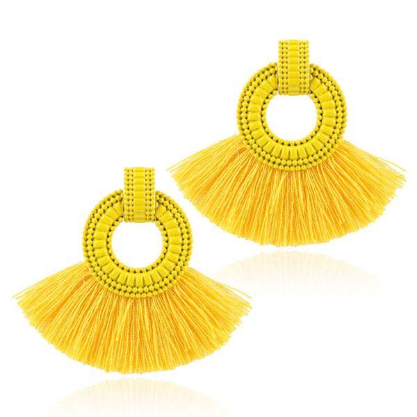 Alloy Fashion Geometric earring  (yellow) NHNMD4742-yellow