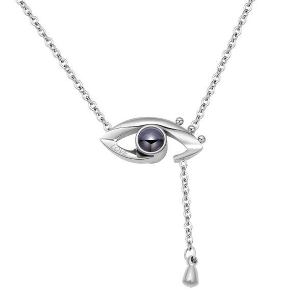 Titanium&Stainless Steel Korea Geometric necklace  (Steel color) NHOP2986-Steel-color