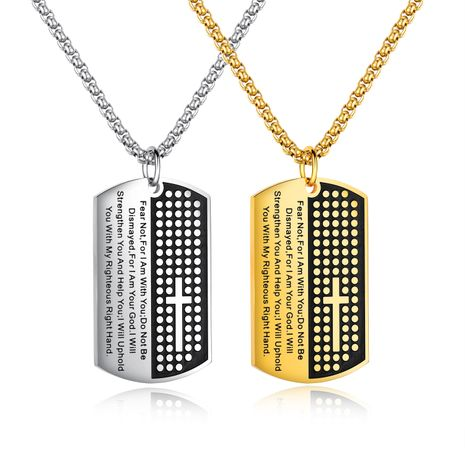 Titanium&Stainless Steel Fashion Geometric necklace  (Steel color) NHOP2996-Steel-color's discount tags