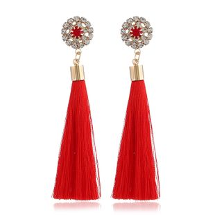 Alloy Fashion Flowers earring  (red) NHVA5144-red's discount tags