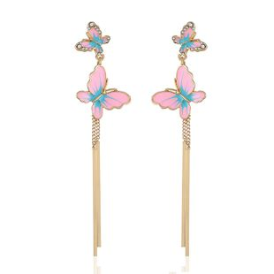 Alloy Fashion Animal earring  (Pink) NHVA5147-Pink's discount tags