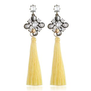 Alloy Fashion Tassel earring  (yellow) NHVA5151-yellow's discount tags