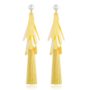 Alloy Fashion Tassel earring  (yellow) NHVA5155-yellow's discount tags