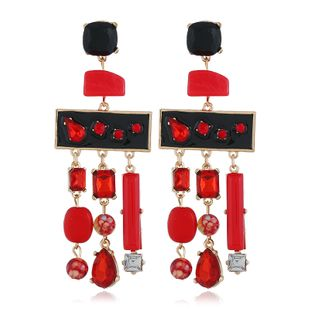 Alloy Fashion Tassel earring  (red) NHVA5159-red's discount tags