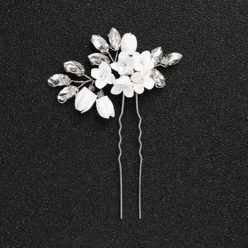 Imitated crystalCZ Korea Flowers Hair accessories  Alloy NHHS0550Alloy