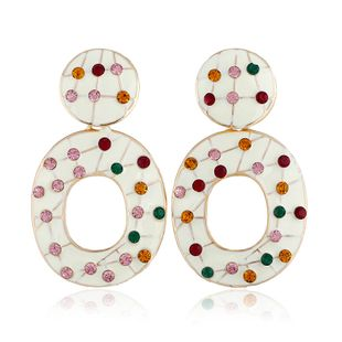 Alloy Fashion Geometric earring  (white) NHVA5166-white's discount tags