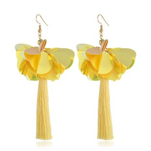 Acrylic Fashion Flowers earring  (yellow) NHVA5171-yellow's discount tags