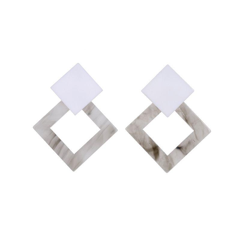 Acrylic Vintage Geometric earring  white  Fashion Jewelry NHLL0297white