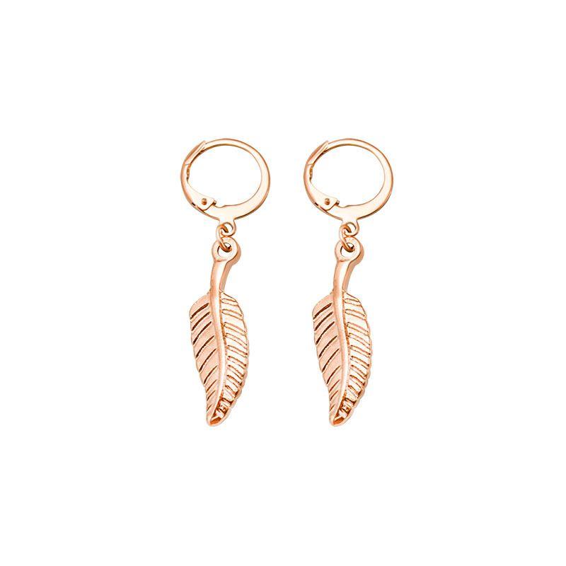 Titanium&Stainless Steel Fashion Geometric earring  (Rose alloy)  Fine Jewelry NHOK0497-Rose alloy