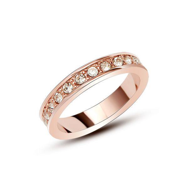 Titanium&Stainless Steel Fashion Geometric Ring  (Rose Alloy-5)  Fine Jewelry NHOK0499-Rose Alloy-5