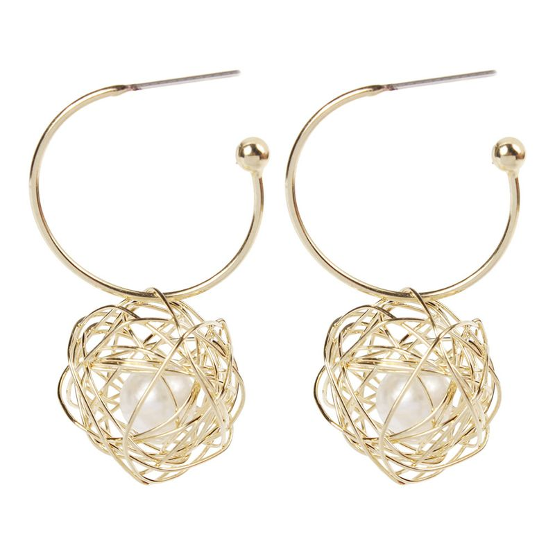 Alloy Fashion Cross earring  (Ring needle)  Fashion Jewelry NHMD5163-Ring needle
