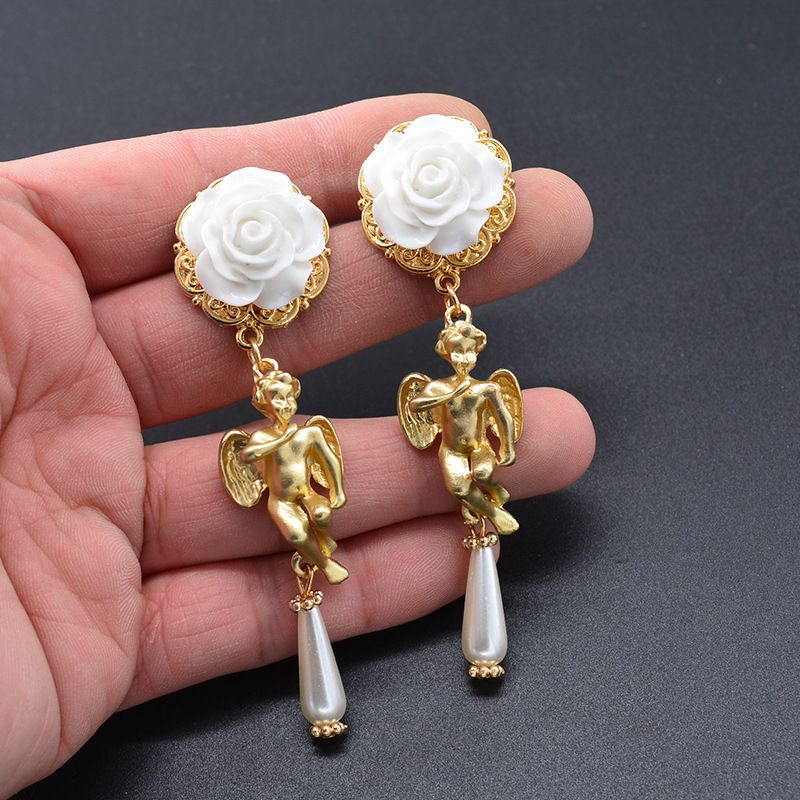 Alloy Fashion Geometric earring  white  Fashion Jewelry NHNT0744white