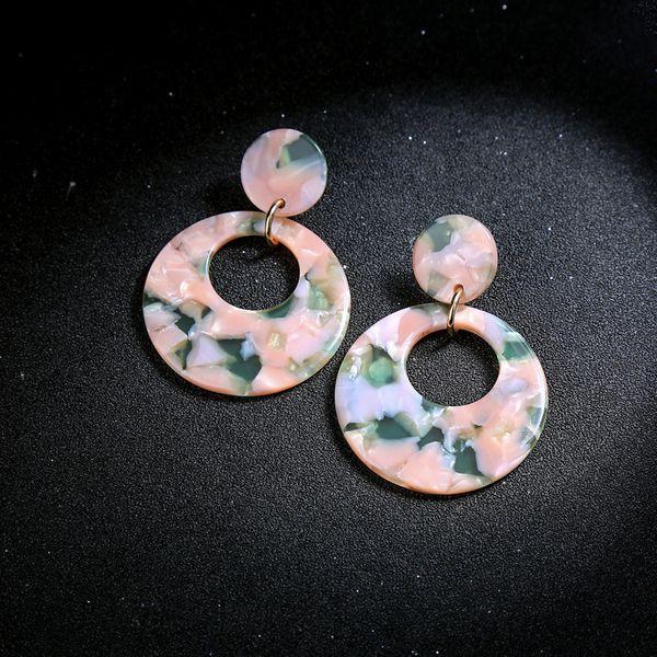 Plastic Fashion Geometric earring  (Photo Color)  Fashion Jewelry NHQD6113-Photo-Color
