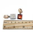 NHOM1318-Brown-square-ear-clip