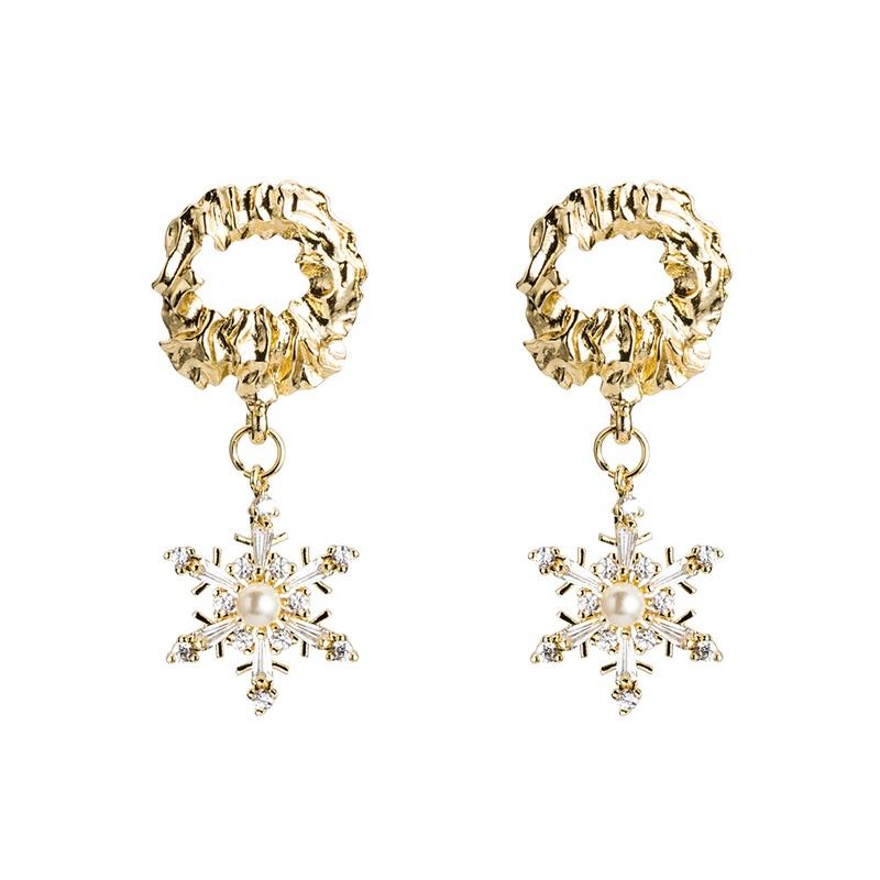 Copper Vintage Geometric earring  E01996 alloyen  Fine Jewelry NHWF3731E01996alloyen