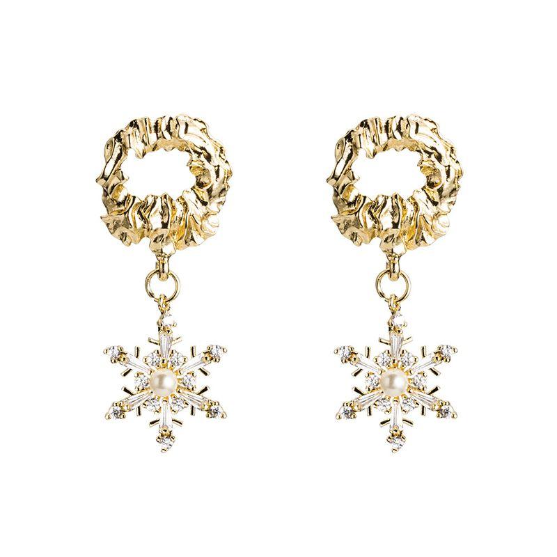 Copper Korea Geometric earring  (Alloy)  Fine Jewelry NHYT1494-Alloy