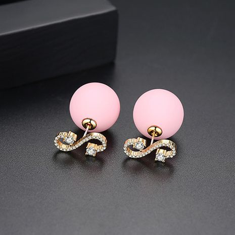 Alloy Korea Geometric earring  (Pink-T02D21)  Fashion Jewelry NHTM0631-Pink-T02D21's discount tags
