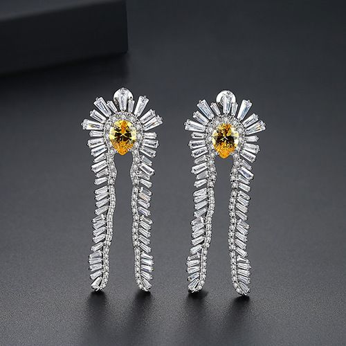 Alloy Fashion Geometric earring  (Platinum-T02B26)  Fashion Jewelry NHTM0635-Platinum-T02B26