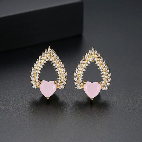 Alloy Korea Sweetheart earring  (Pink-T02E21)  Fashion Jewelry NHTM0638-Pink-T02E21's discount tags