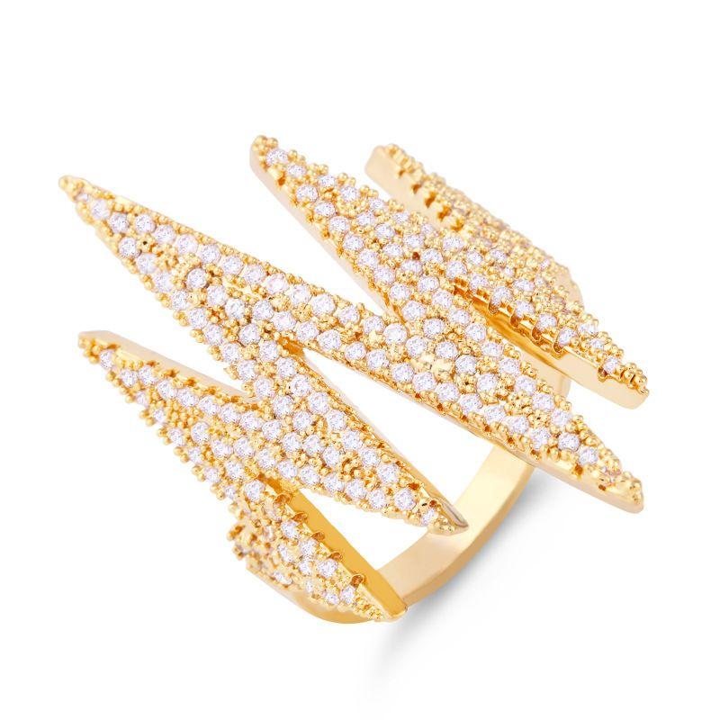 Copper Fashion Geometric Ring  Alloy7  Fine Jewelry NHAS0341Alloy7