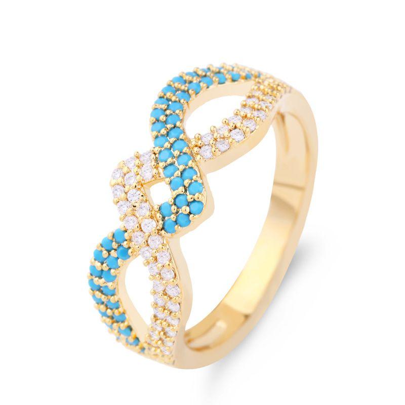 Copper Korea Geometric Ring  (Alloy-7)  Fine Jewelry NHAS0348-Alloy-7