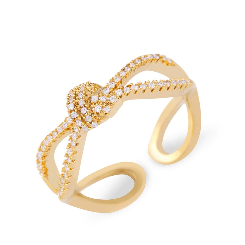 Copper Fashion Geometric Ring  (Alloy)  Fine Jewelry NHAS0356-Alloy