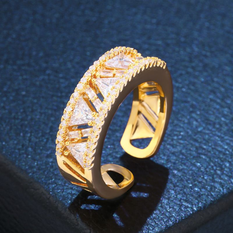 Copper Fashion Geometric Ring  Alloy  Fine Jewelry NHAS0369Alloy