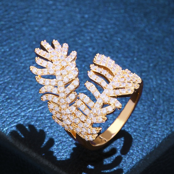 Copper Fashion Geometric Ring  (Alloy)  Fine Jewelry NHAS0377-Alloy