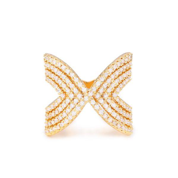 Copper Fashion Geometric Ring  (Alloy-7)  Fine Jewelry NHAS0378-Alloy-7
