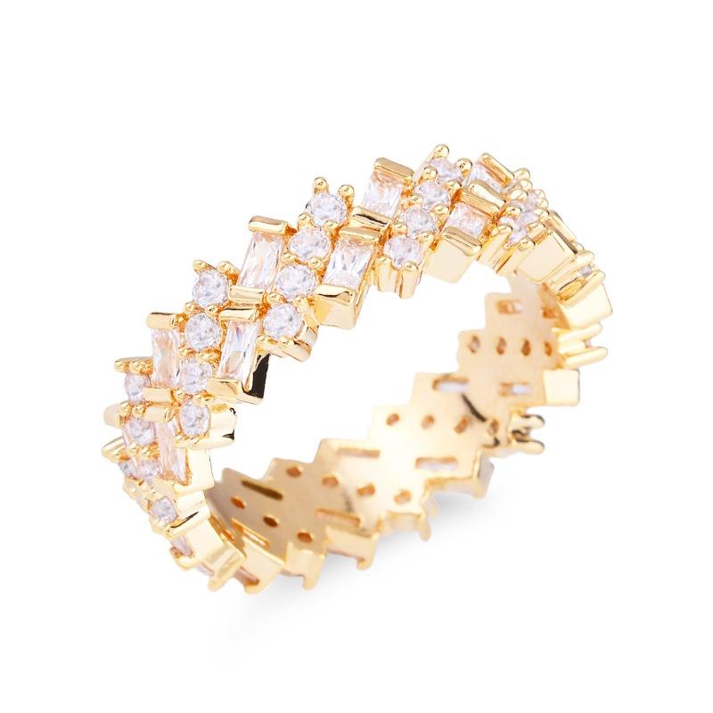 Copper Fashion Geometric Ring  (Alloy-7)  Fine Jewelry NHAS0380-Alloy-7