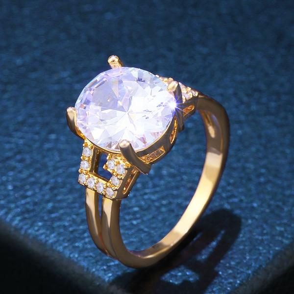 Copper Fashion Geometric Ring  (Alloy-8)  Fine Jewelry NHAS0379-Alloy-8