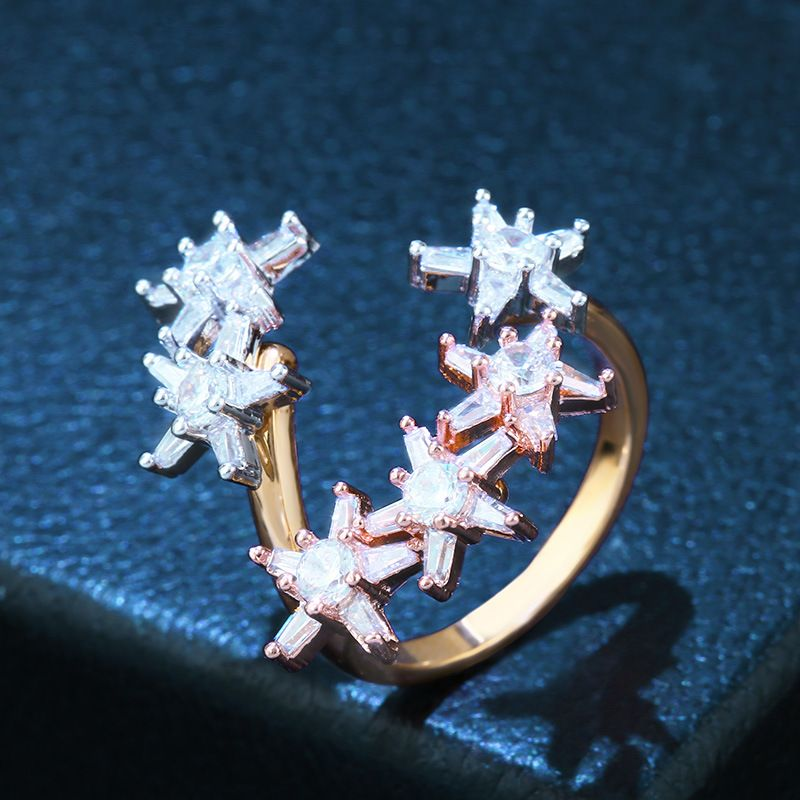 Copper Fashion Geometric Ring  (Alloy)  Fine Jewelry NHAS0383-Alloy
