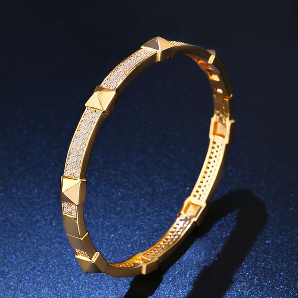 Copper Fashion Geometric bracelet  (18K alloy)  Fine Jewelry NHAS0385-18K-alloy