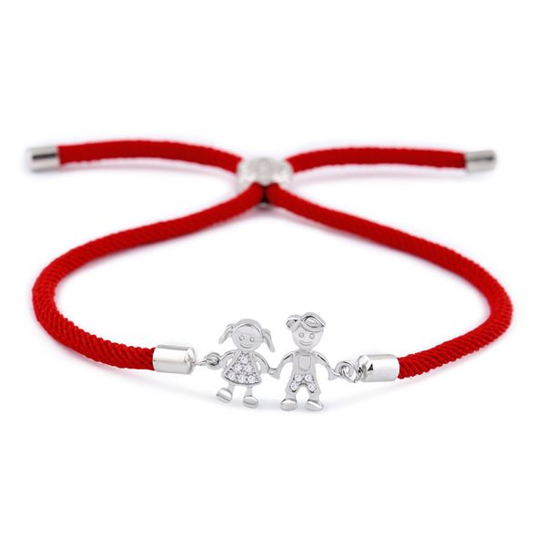 Copper Korea Geometric bracelet  (Red rope alloy)  Fine Jewelry NHAS0394-Red-rope-alloy