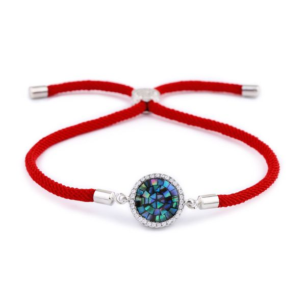 Copper Korea Geometric bracelet  (Red rope alloy)  Fine Jewelry NHAS0398-Red-rope-alloy