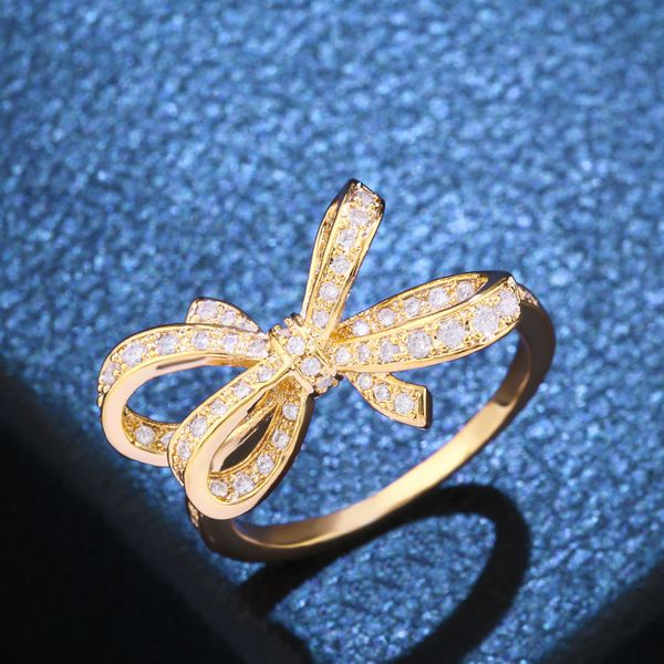 Copper Fashion Bows Ring  (Alloy-7)  Fine Jewelry NHAS0407-Alloy-7