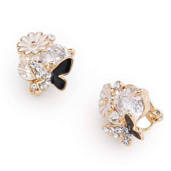 Alloy Korea Flowers earring  (Alloy)  Fashion Jewelry NHAS0411-Alloy