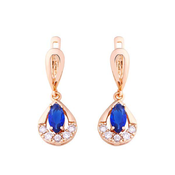Copper Fashion Geometric earring  (blue)  Fine Jewelry NHAS0413-blue
