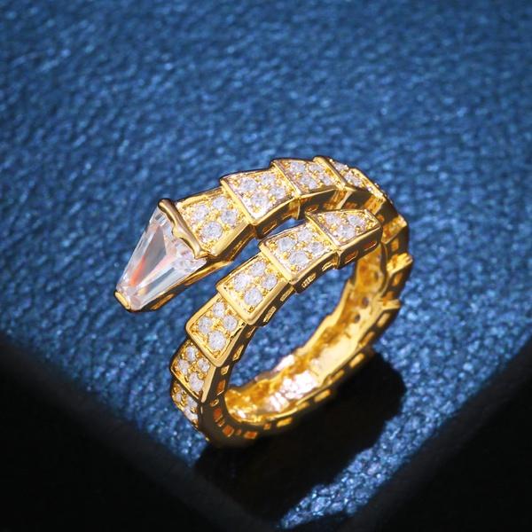 Copper Fashion Geometric Ring  (Alloy)  Fine Jewelry NHAS0417-Alloy