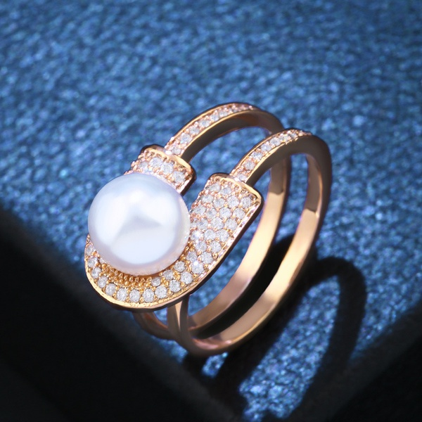 Copper Fashion Geometric Ring  (Alloy)  Fine Jewelry NHAS0421-Alloy