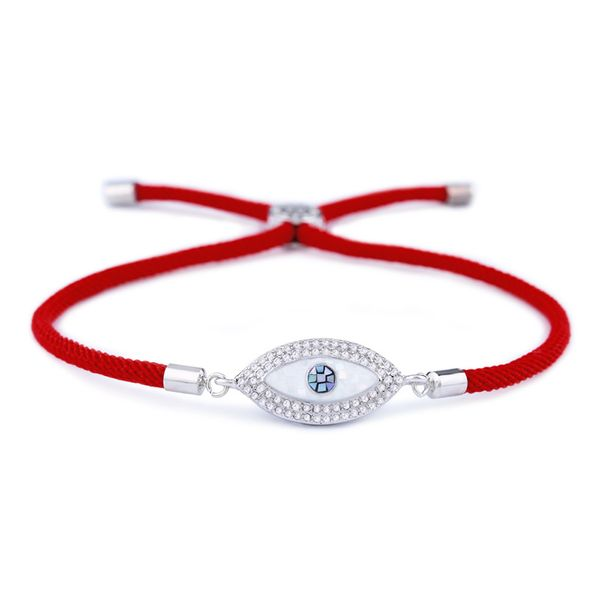 Copper Korea Geometric bracelet  (Red rope alloy)  Fine Jewelry NHAS0423-Red-rope-alloy