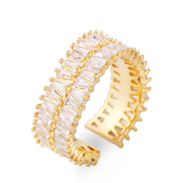 Copper Fashion Geometric Ring  (Alloy)  Fine Jewelry NHAS0427-Alloy