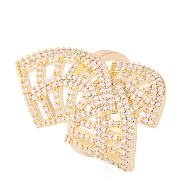 Copper Fashion Geometric Ring  (Alloy)  Fine Jewelry NHAS0430-Alloy