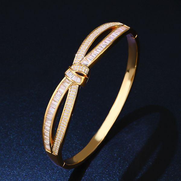 Copper Fashion Geometric bracelet  (18K alloy)  Fine Jewelry NHAS0439-18K-alloy