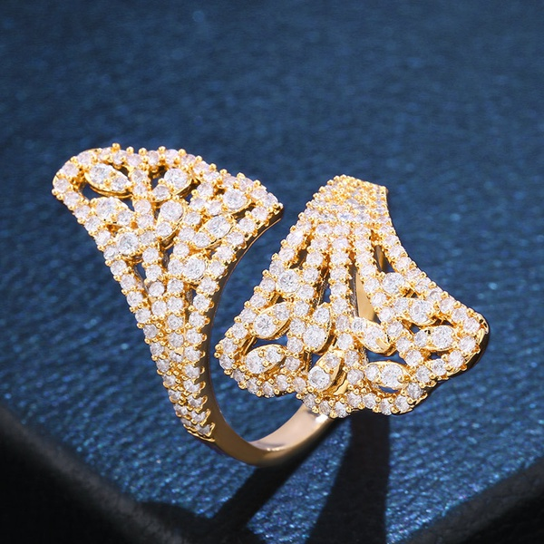 Copper Fashion Geometric Ring  (Alloy)  Fine Jewelry NHAS0443-Alloy