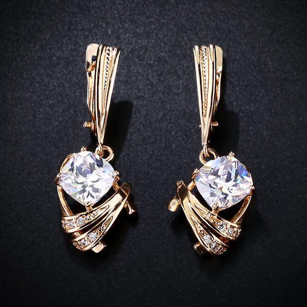 Alloy Simple Geometric earring  (white)  Fashion Jewelry NHAS0444-white