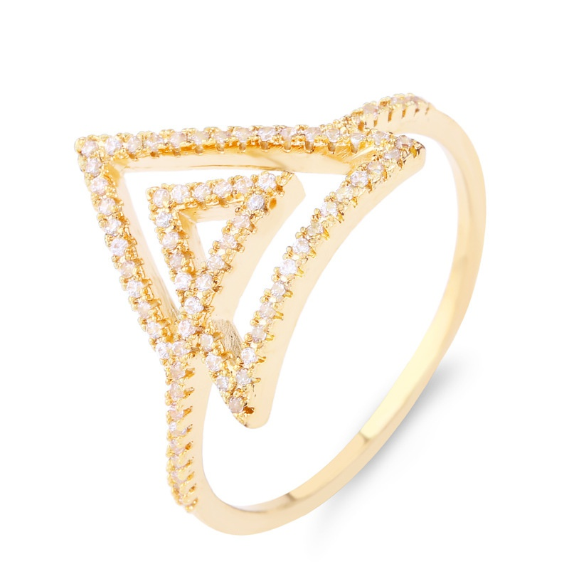 Copper Simple Geometric Ring  (Alloy-7)  Fine Jewelry NHAS0448-Alloy-7