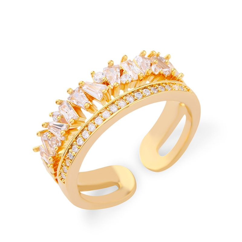 Copper Simple  Ring  (Alloy)  Fine Jewelry NHAS0454-Alloy