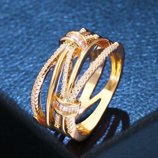 Copper Fashion Geometric Ring  (Alloy-7)  Fine Jewelry NHAS0456-Alloy-7