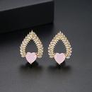 Alloy Korea Sweetheart earring  PinkT02E21  Fashion Jewelry NHTM0638PinkT02E21
